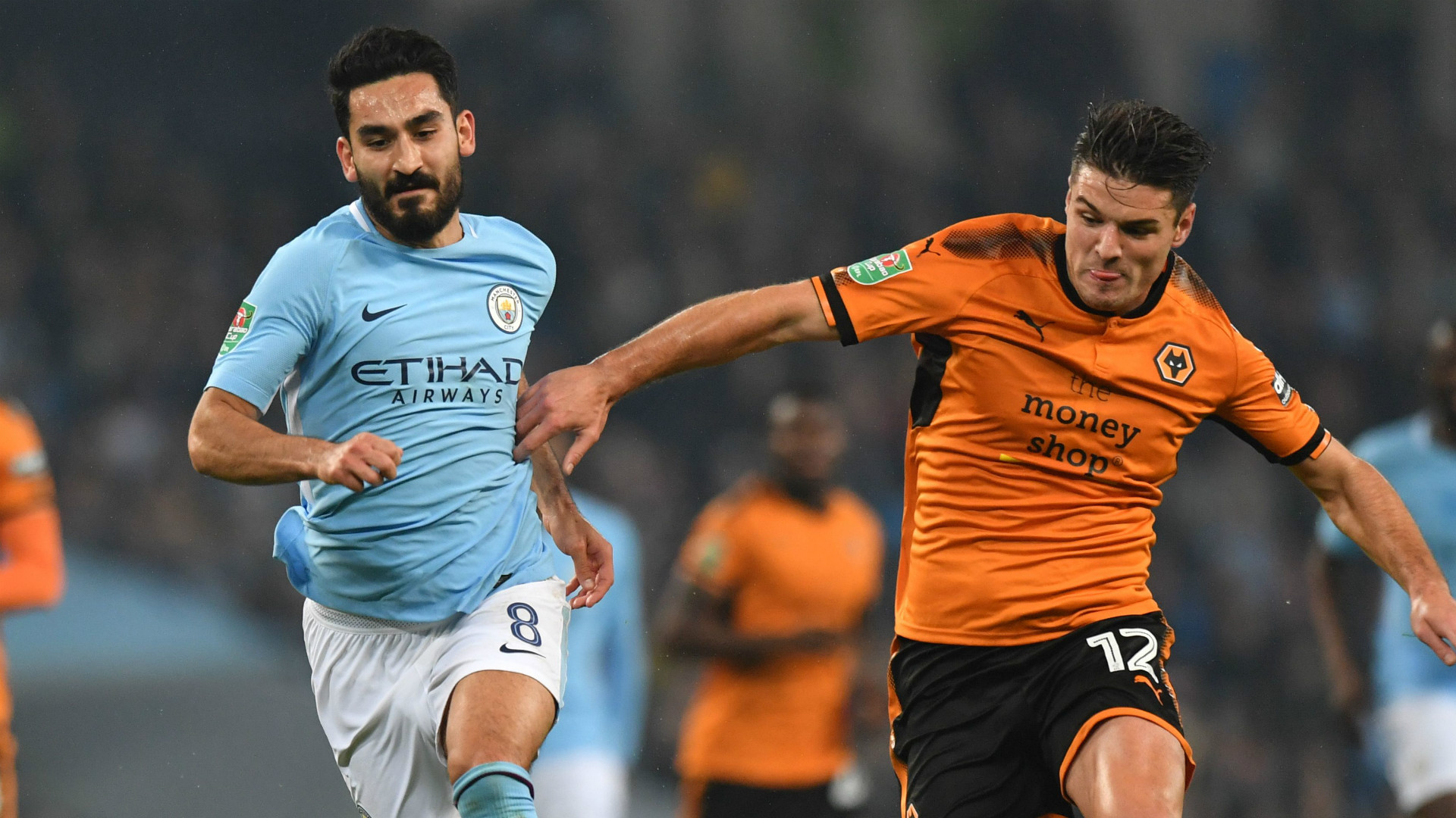 Image result for gundogan man city vs wolves 2017/18