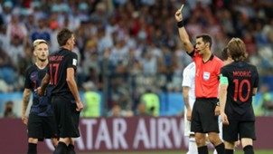 Croatia Rakitic Mandzukic Modric Yellow Card 21062018
