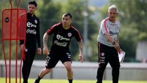 260518 Gary Medel - Reinaldo Rueda - Diego Valdés - Chile training in Austria