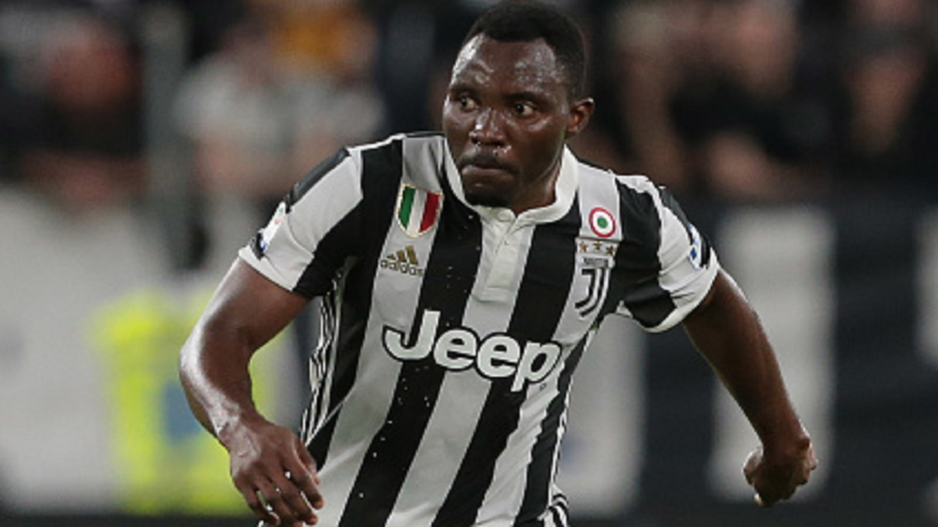 Kwadwo Asamoah of Juventus FC in action during the serie A match between Juventus and Bologna FC at Allianz Stadium on May 5, 2018 in Turin, Italy.