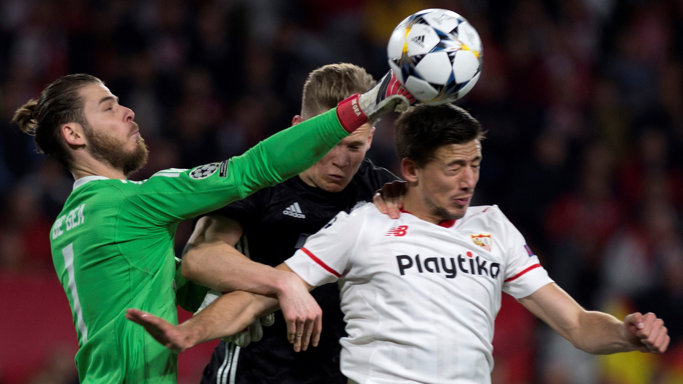 David de Gea Scott Mctominay Clement Lenglet Sevilla Manchester United UCL 21022018