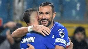 Gianluca Caprari Fabio Quagliarella Sampdoria Parma Serie A