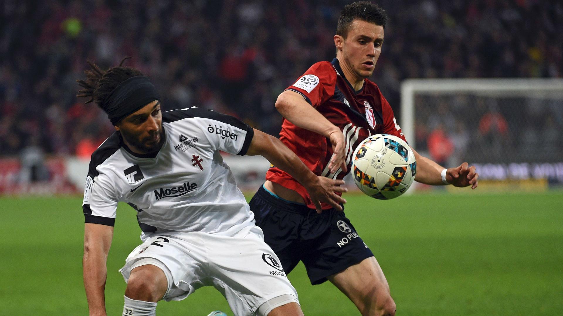 Benoit Assou Ekotto Sebastien Corchia Lille Metz Ligue 1 06052017