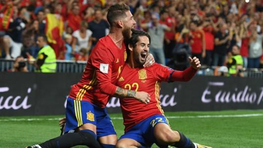 Isco Alarcon Sergio Ramos Spain Italy WC Qualifiers
