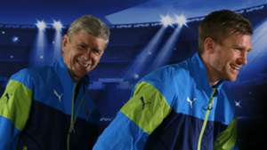 Arsene Wenger Per Mertesacker Arsenal
