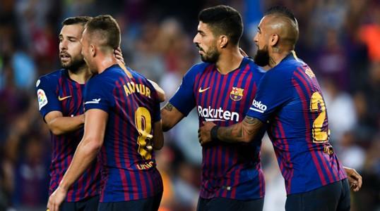 020918 Barcelona Huesca Arturo Vidal Luis Suárez Jordi Alba