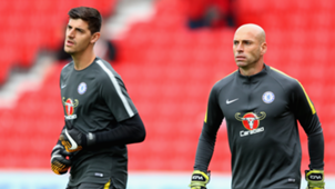 Willy Caballero and Thibaut Courtois at Chelsea