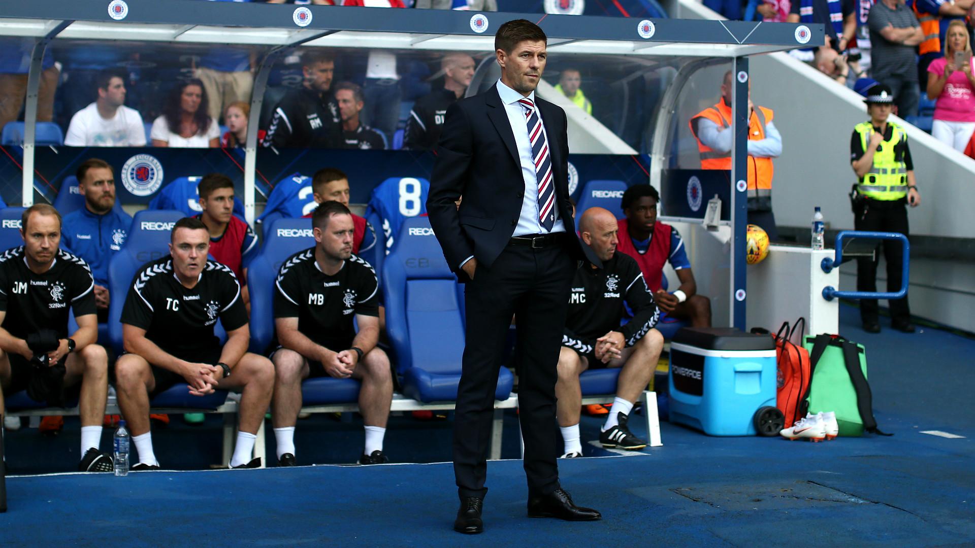 Steven Gerrard Rangers Europa League 2018-19