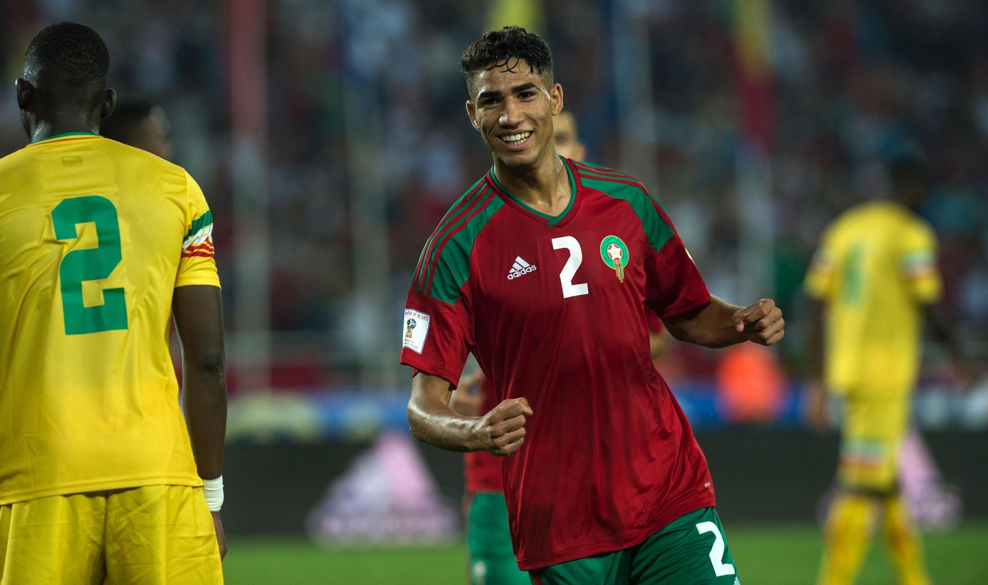 نتيجة بحث الصور عن أشرف حكيمي المنتخب المغربي