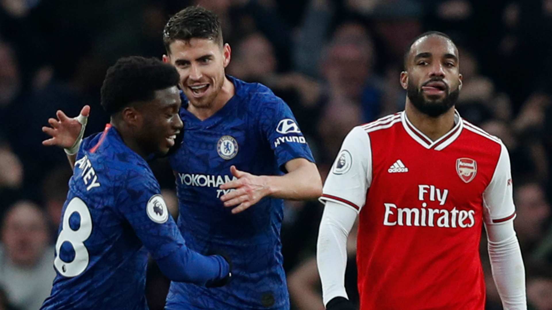 Jorginho Alexandre Lacazette Chelsea Arsenal 2019-20