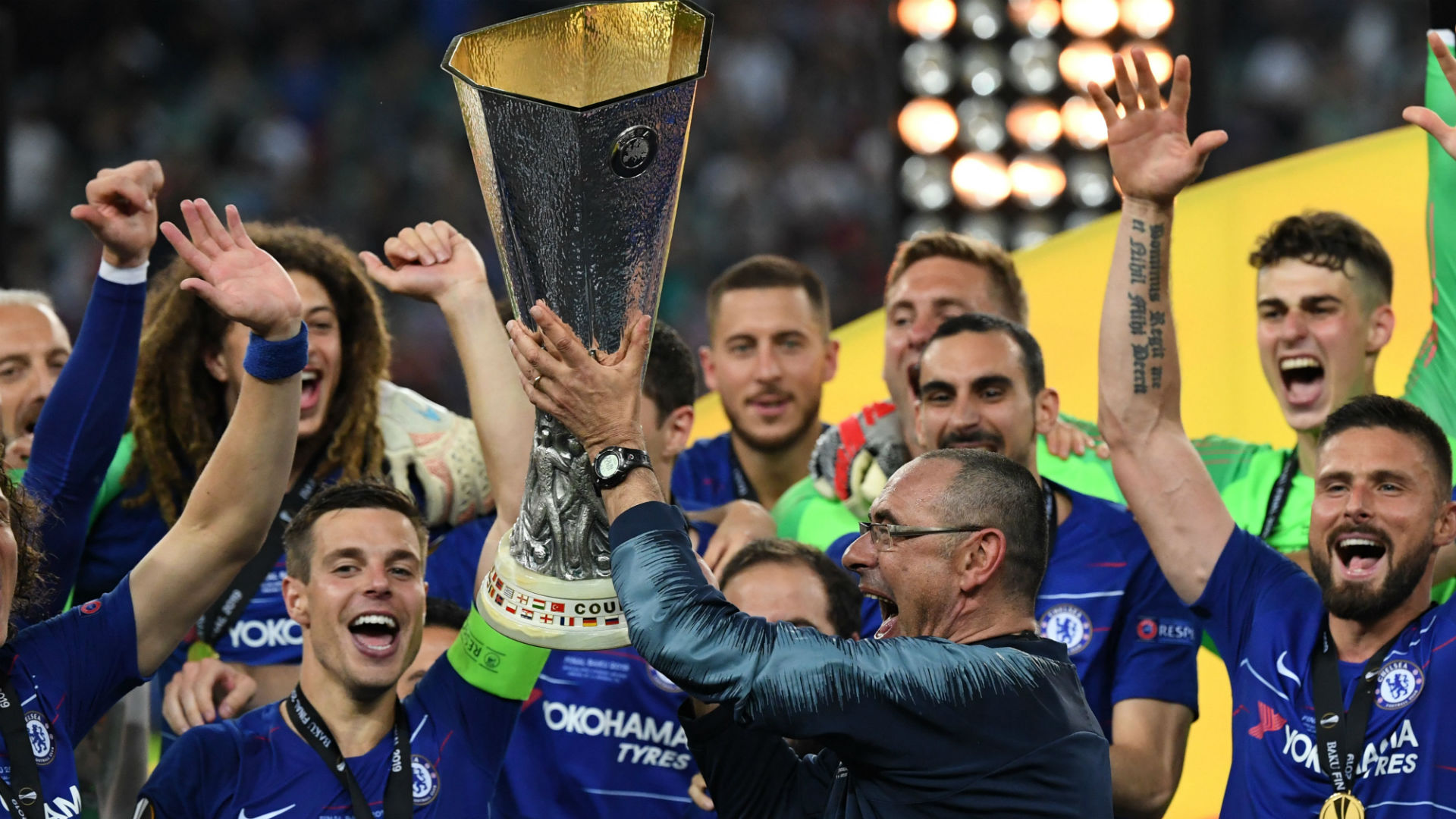 Sarri Chelsea Arsenal Europa League