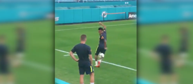 Neymar Brazil training