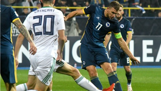 Bosnia and Herzegovina Northern Ireland Edin Dzeko Craig Cathcart 15102018 Nations League