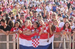 croatia - zadar - fans - welcome party - 17072018
