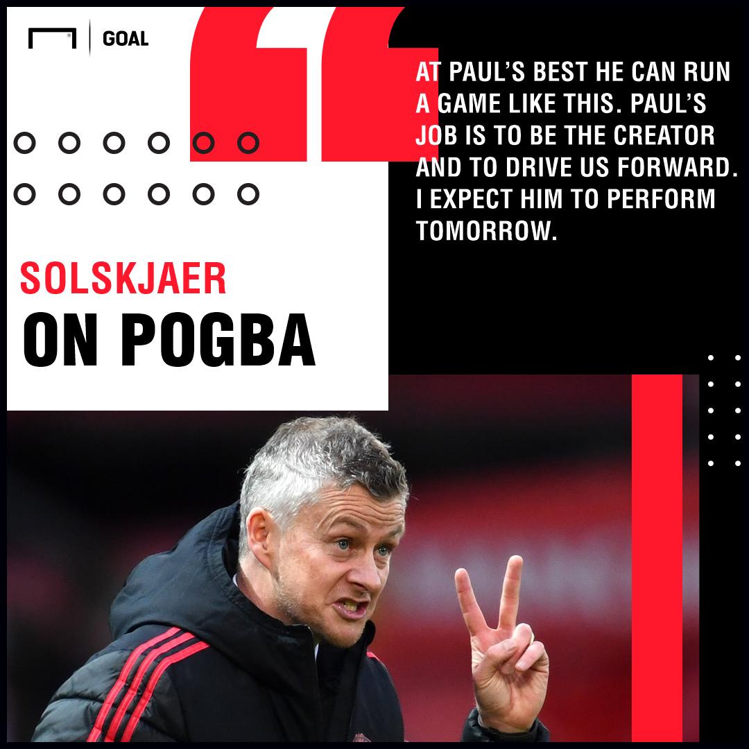 Ole Gunnar Solskjaer on Paul Pogba Manchester United