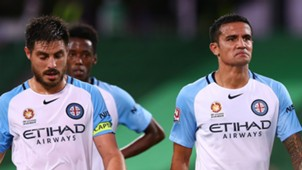 Bruno Fornaroli Tim Cahill Perth Glory v Melbourne City A-League 16042017