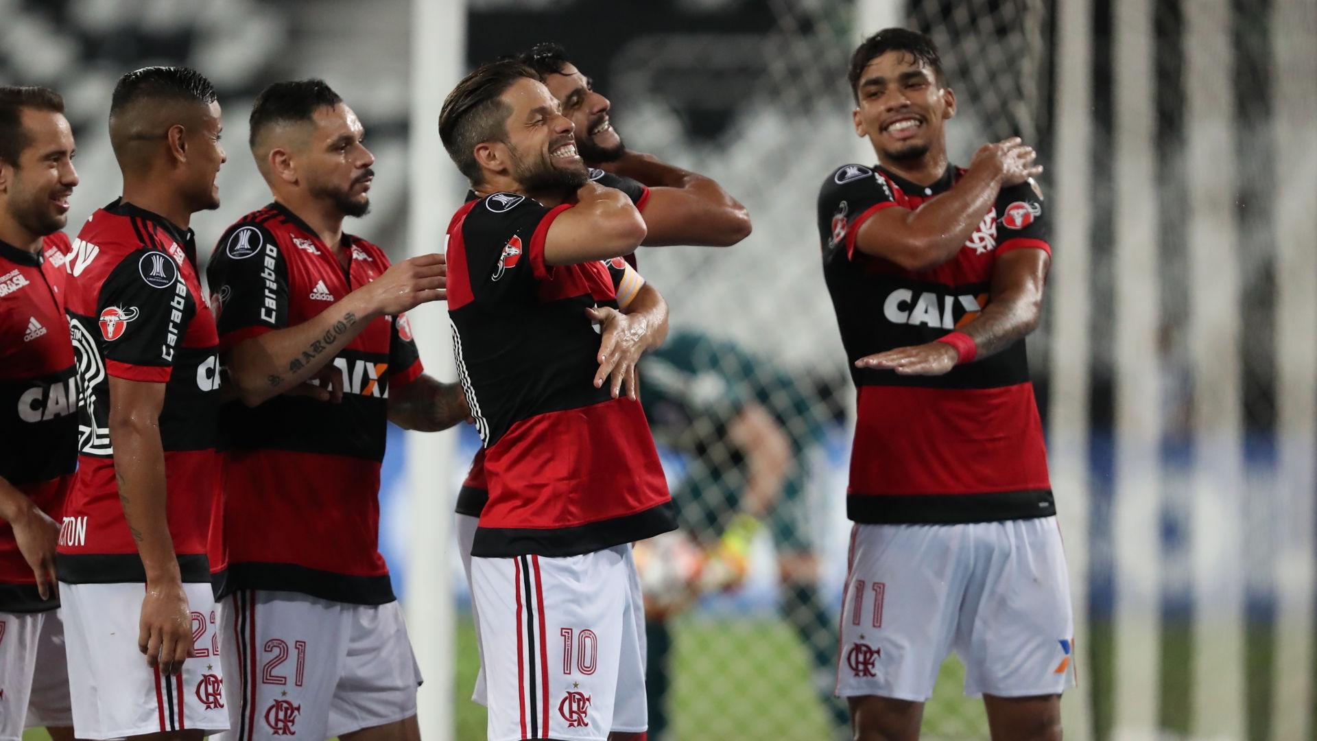 Henrique Dourado Diego Flamengo River Plate 28022018 Copa Libertadores