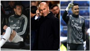 GFX Info Zinedine Zidane Gareth Bale and Keylor Navas, Real Madrid players
