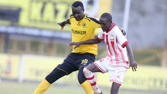 Tusker midfielder Humphrey Mieno.