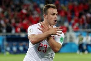 Xherdan Shaqiri Serbia Switzerland World Cup 06/22/18