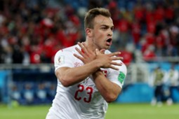 Xherdan Shaqiri Serbia Switzerland World Cup 06/22/18