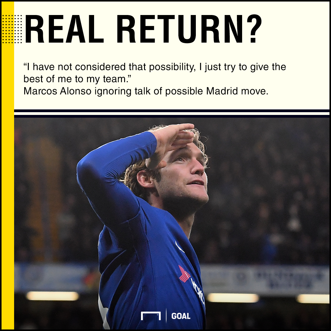 Marcos Alonso ignoring Real Madrid rumours