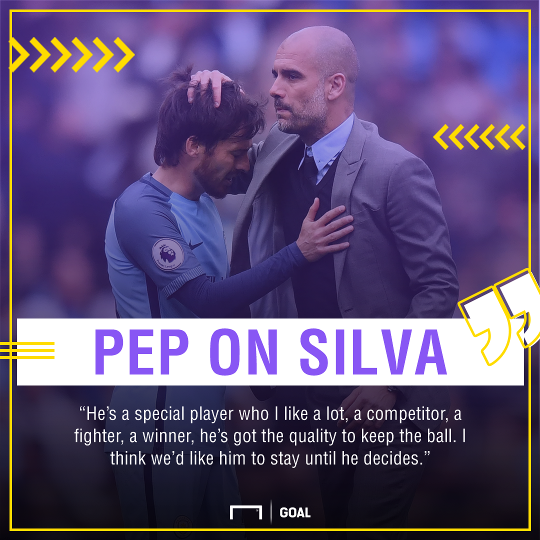 Pep Guardiola David Silva Manchester City special stay