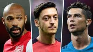 Thierry Henry Mesut Ozil Cristiano Ronaldo
