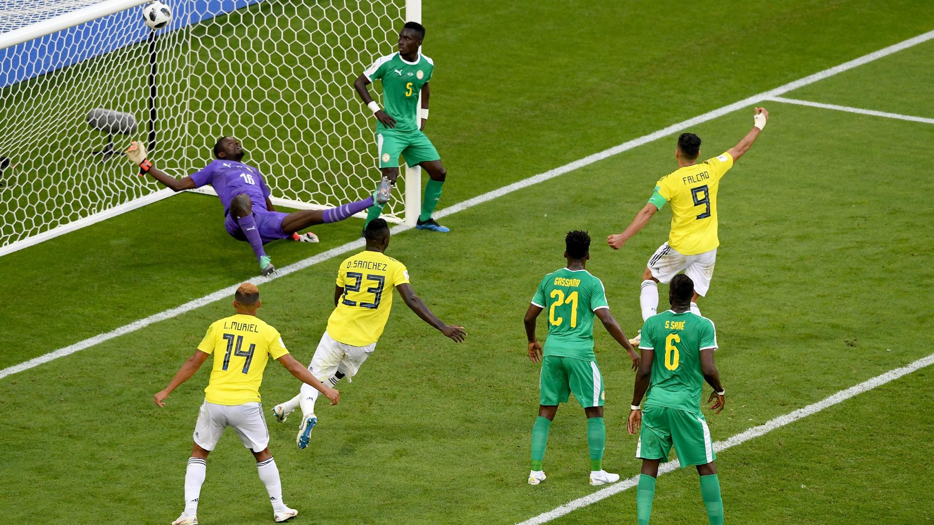 gol Colombia Senegal WC Russia 28062018