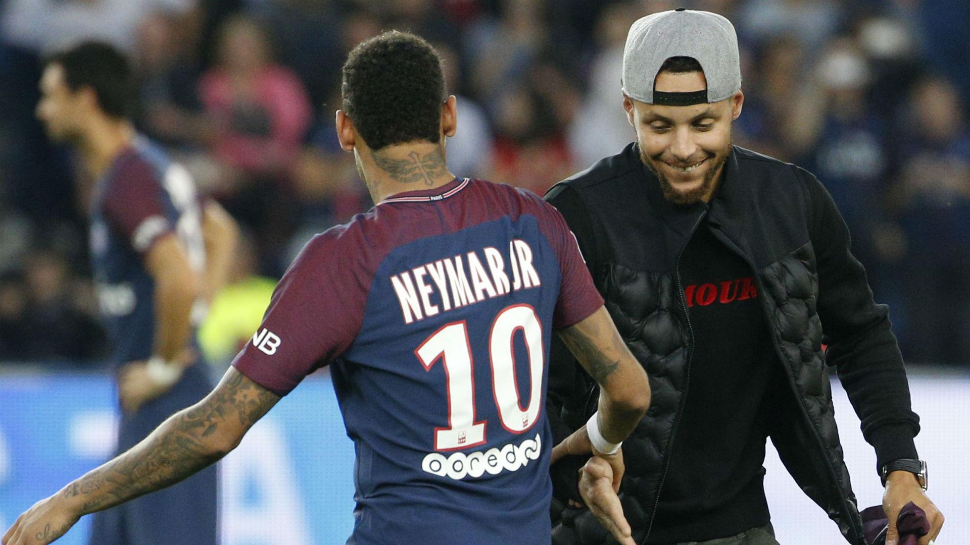 Neymar Stephen Curry PSG ASSE Ligue 1 25082017