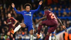 Willian, Samuel Umtiti, Chelsea vs Barcelona