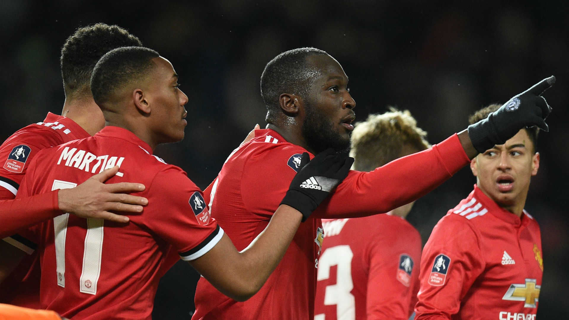 Romelu Lukaku Manchester United celebration