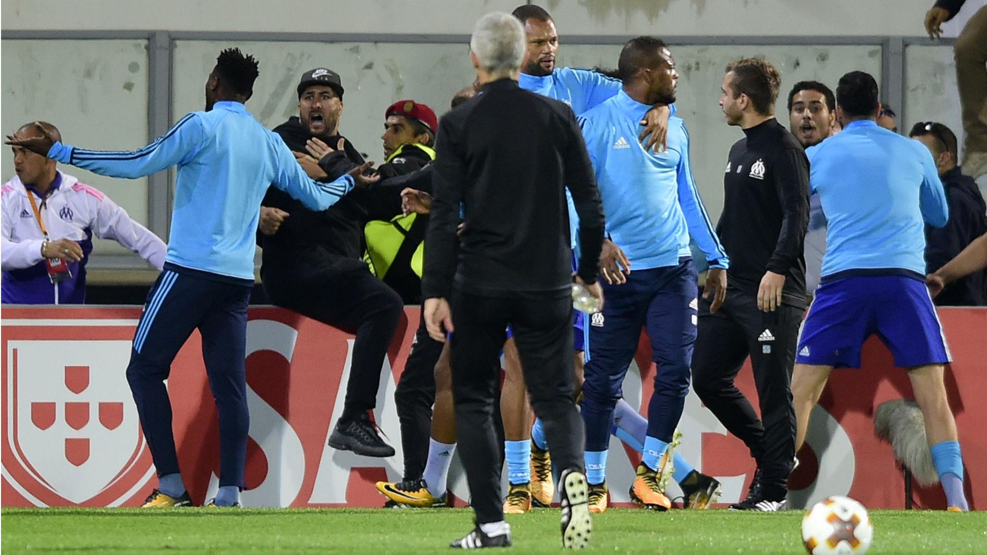 Patrice Evra Vitoria Guimaraes Marseille Europa League