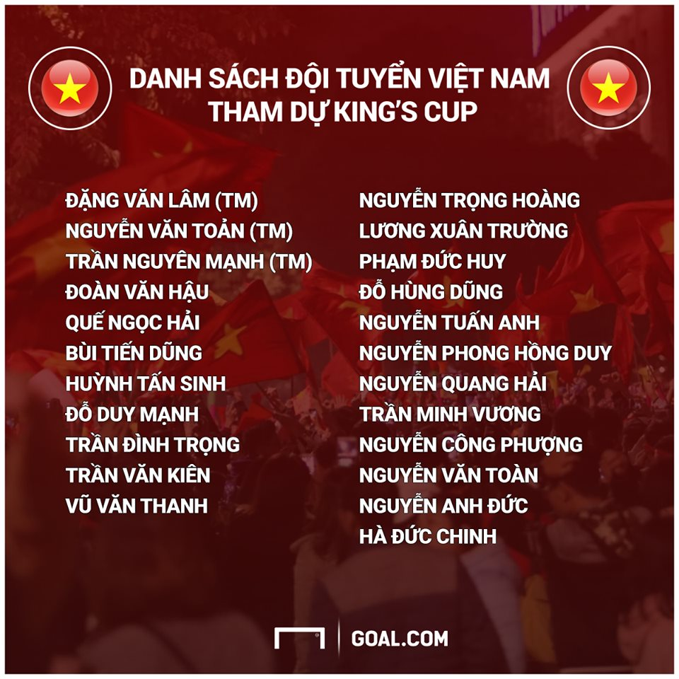 Vietnam King's Cup 2019 squad