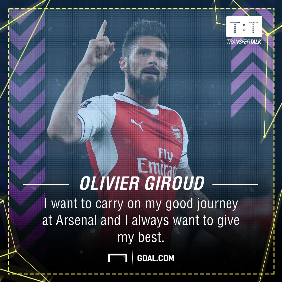 Olivier Giroud Arsenal future