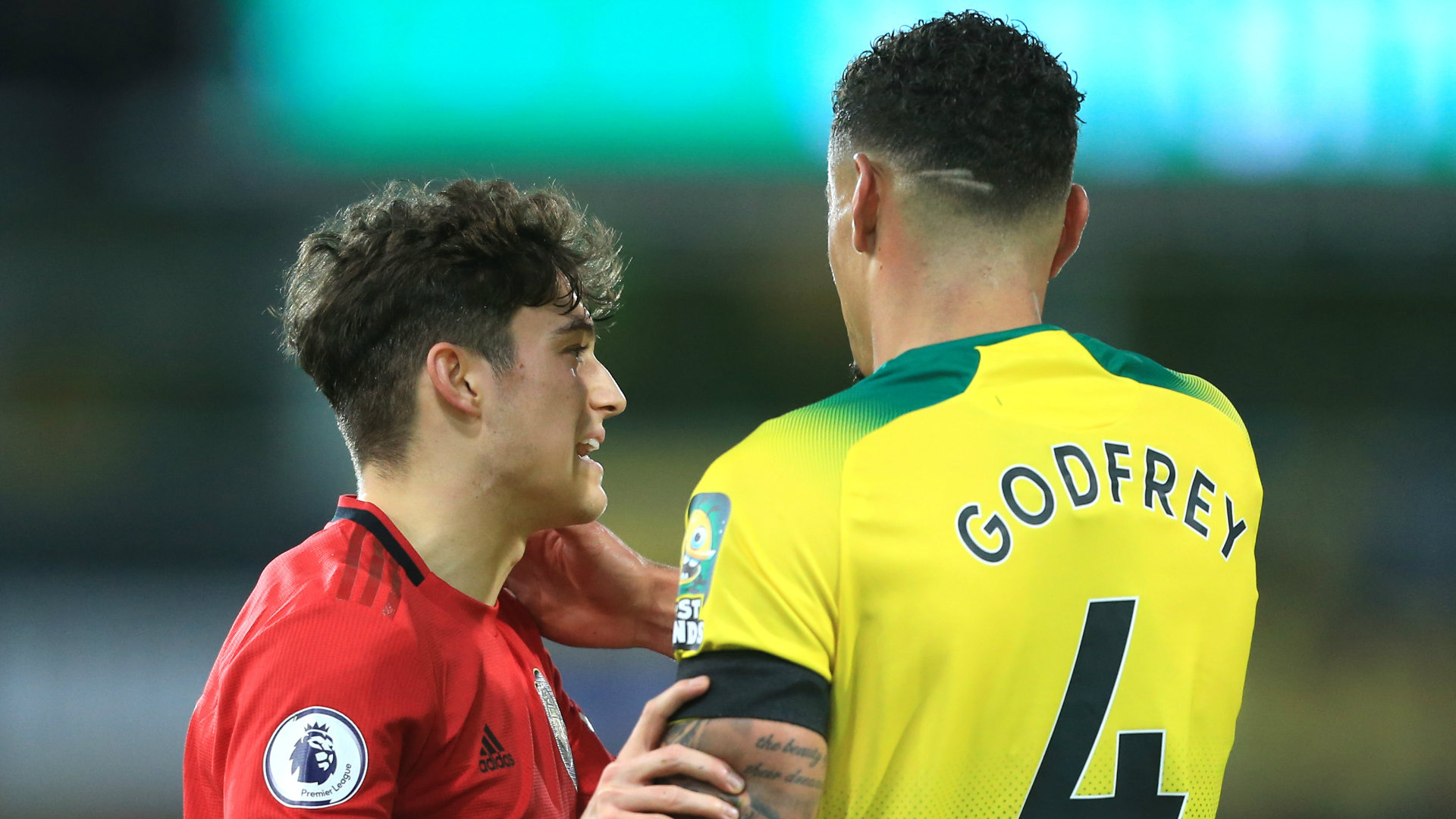 Ben Godfrey Daniel James Norwich vs Man Utd 2019-20