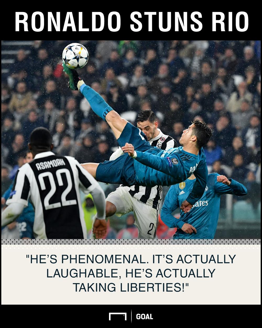 Cristiano Ronaldo laughable taking liberties Rio Ferdinand