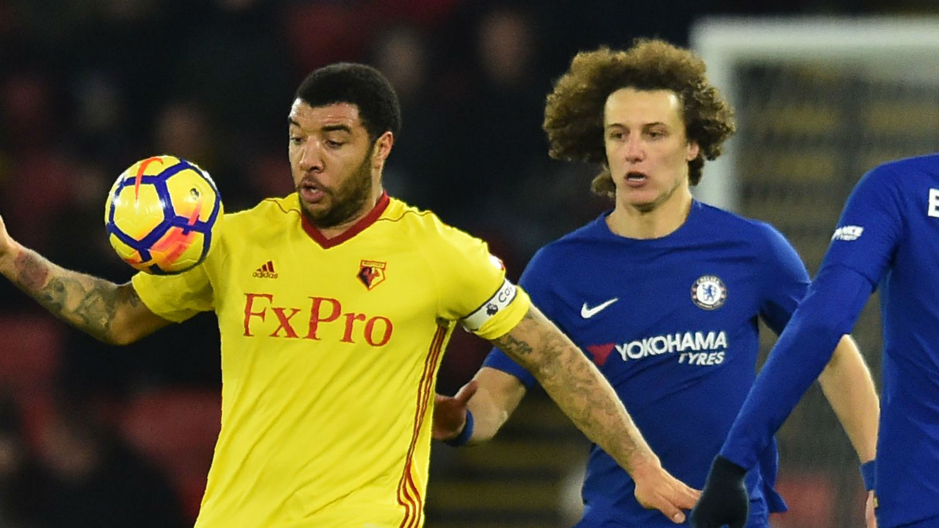 Troy Deeney David Luiz Watford Chelsea