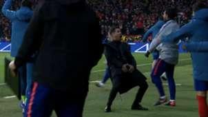 Festejo Simeone vs Juventus