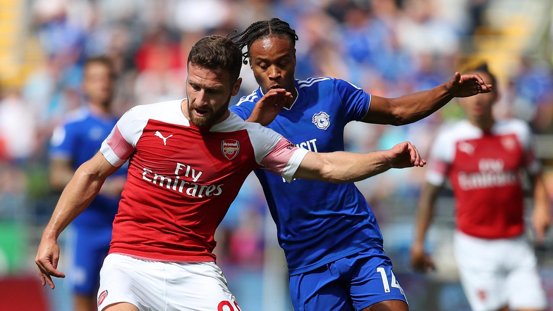 Shkodran Mustafi Bobby Reid Arsenal Cardiff 02092018