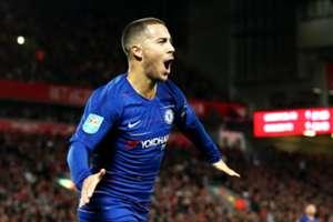 Eden Hazard Liverpool Chelsea League Cup 260ß92018