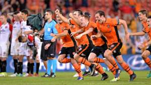 Corey Brown Luke DeVere Brisbane Roar v Western Sydney Wanderers A-League 21042017