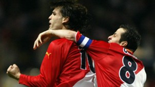 Fernando Morientes Ludovic Giuly Monaco Real Madrid 06042004