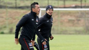 Esteban Paredes Esteban Pavez Colo Colo training 050717