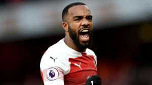 Alexandre Lacazette Arsenal vs Tottenham 2018-19