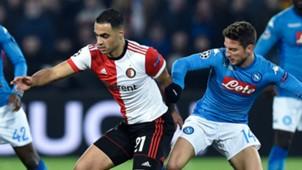 Mertens Amrabat Feyenoord Napoli Champions League