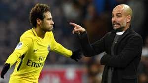 """Guardiola : """"Le talent individuel le plus proche de celui de Messi est celui de Neymar"""""""