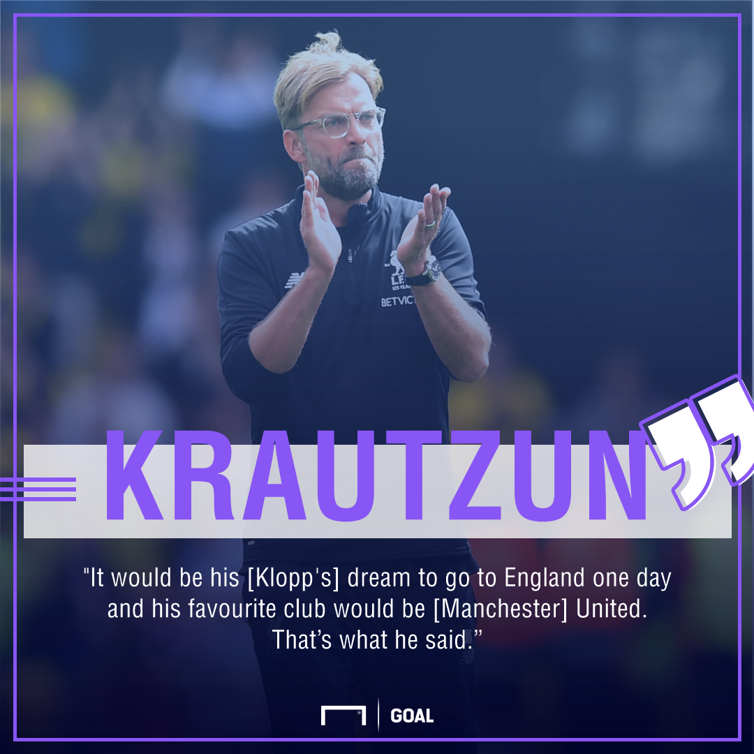 Jurgen Klopp Liverpool Manchester United dream job