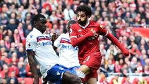 Kurt Zouma & Mohamed Salah - Liverpool v Stoke City