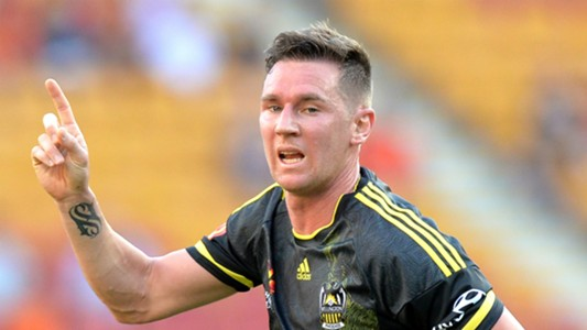 Shane Smeltz Brisbane Roar v Wellington Phoenix A-League 25022017